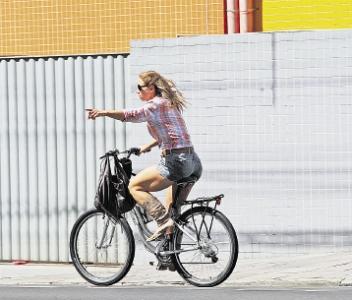 Viu como eu ando de bike!