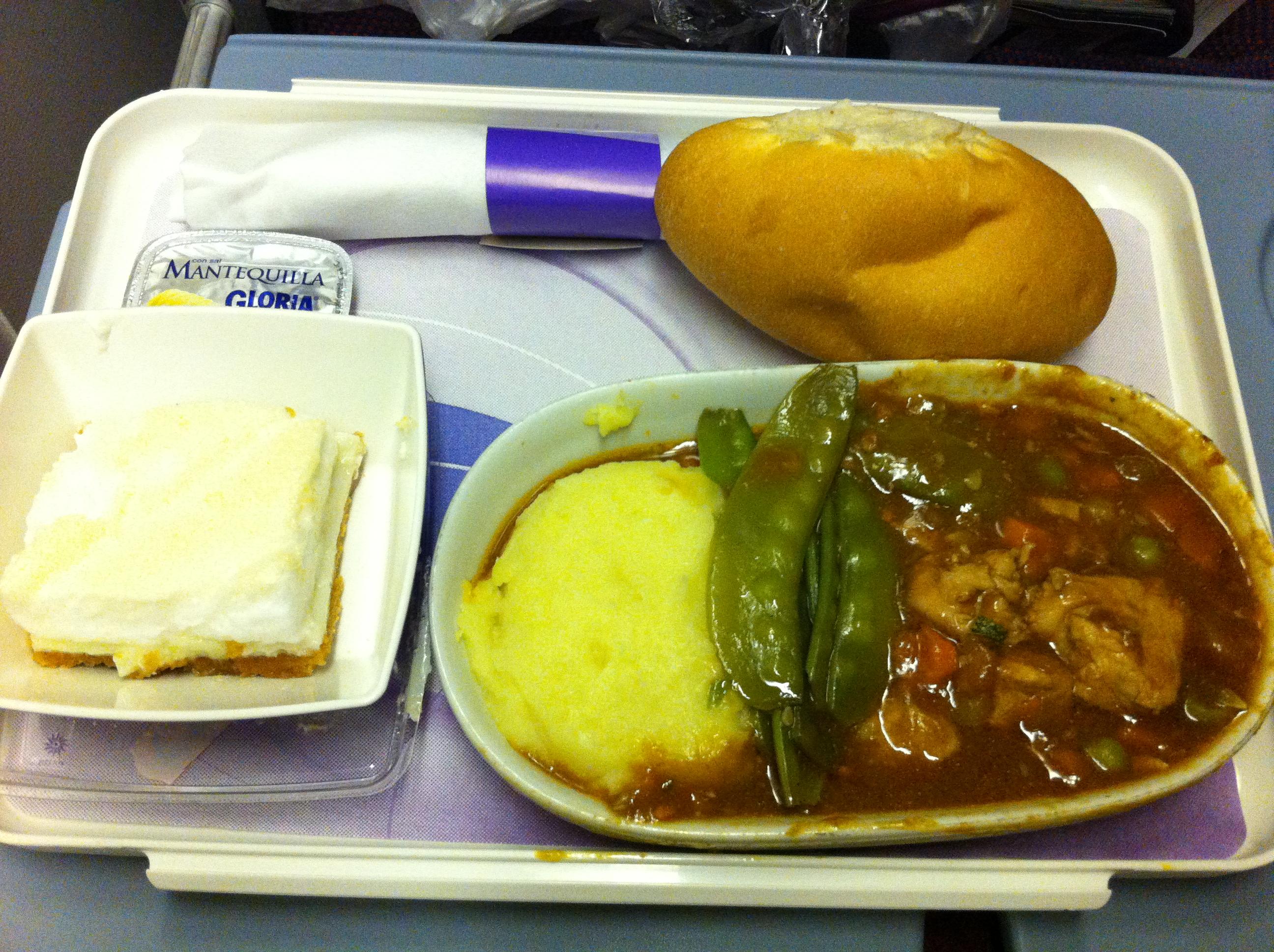 Jantar no avião: Lima – Guarulhos