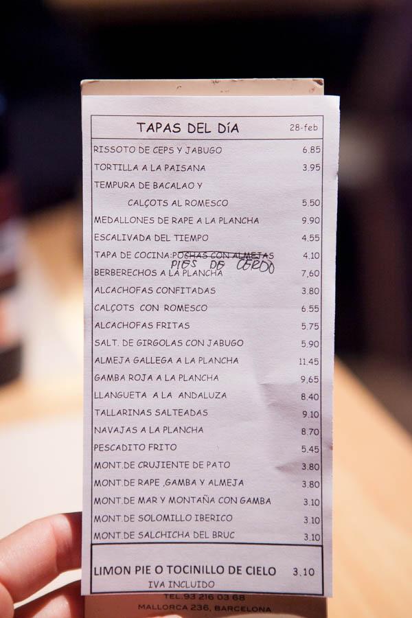 tapas carta cerveseria catalana blog da mimis