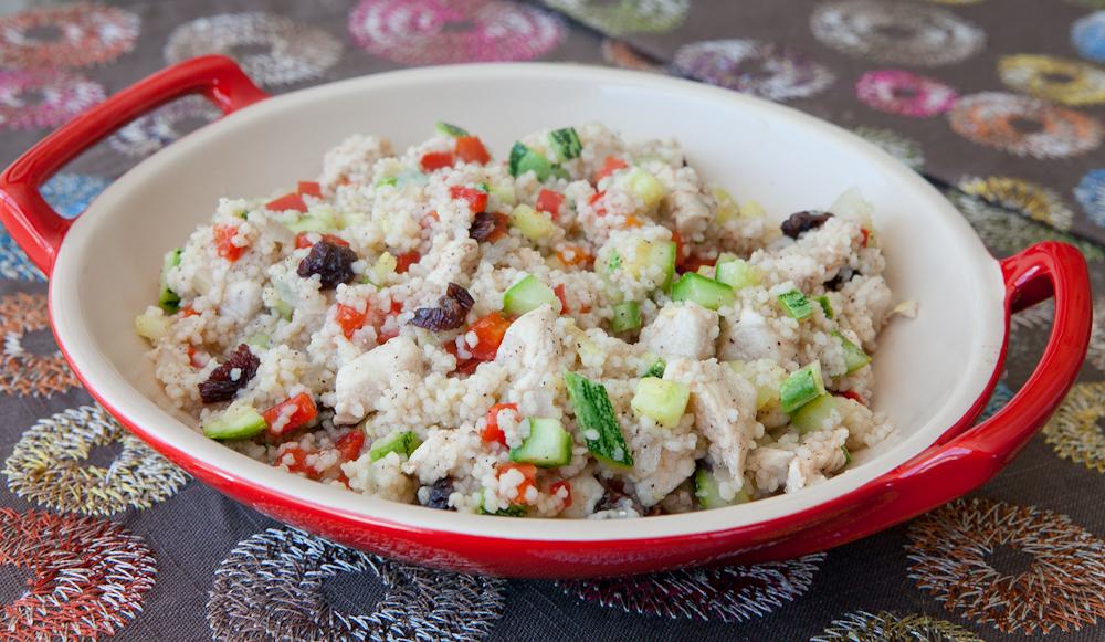 Couscous de frango e legumes: prático e saudável