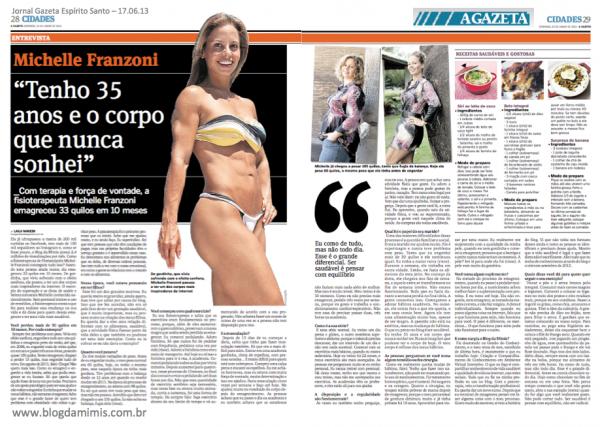 jornal gazeta ES 17.06.13 michelle franzoni blog da mimis