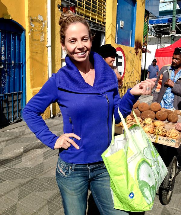 Compras saudáveis no centro da cidade