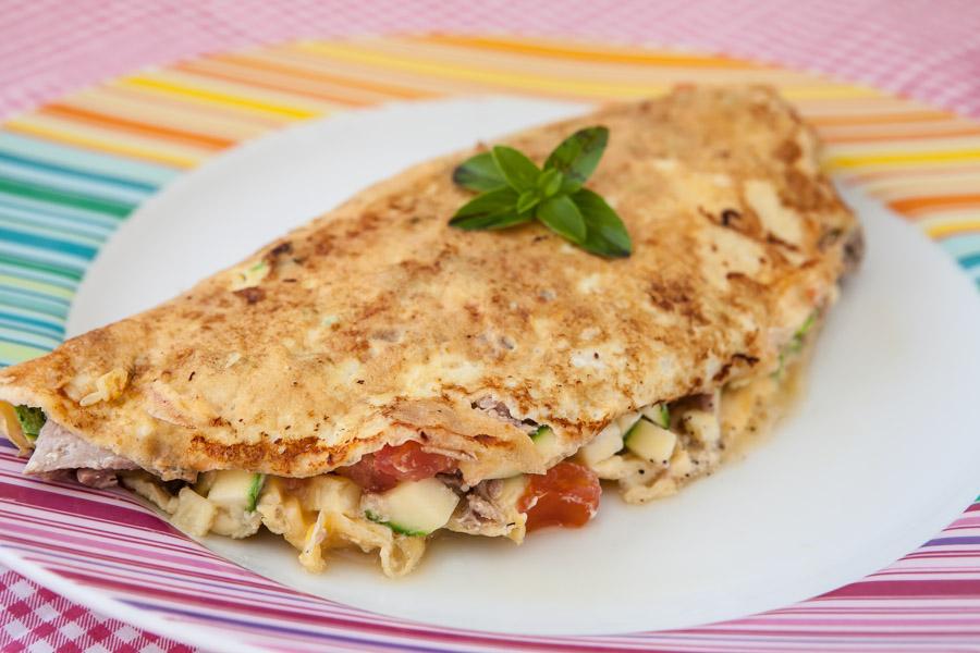 Omelete top de frango