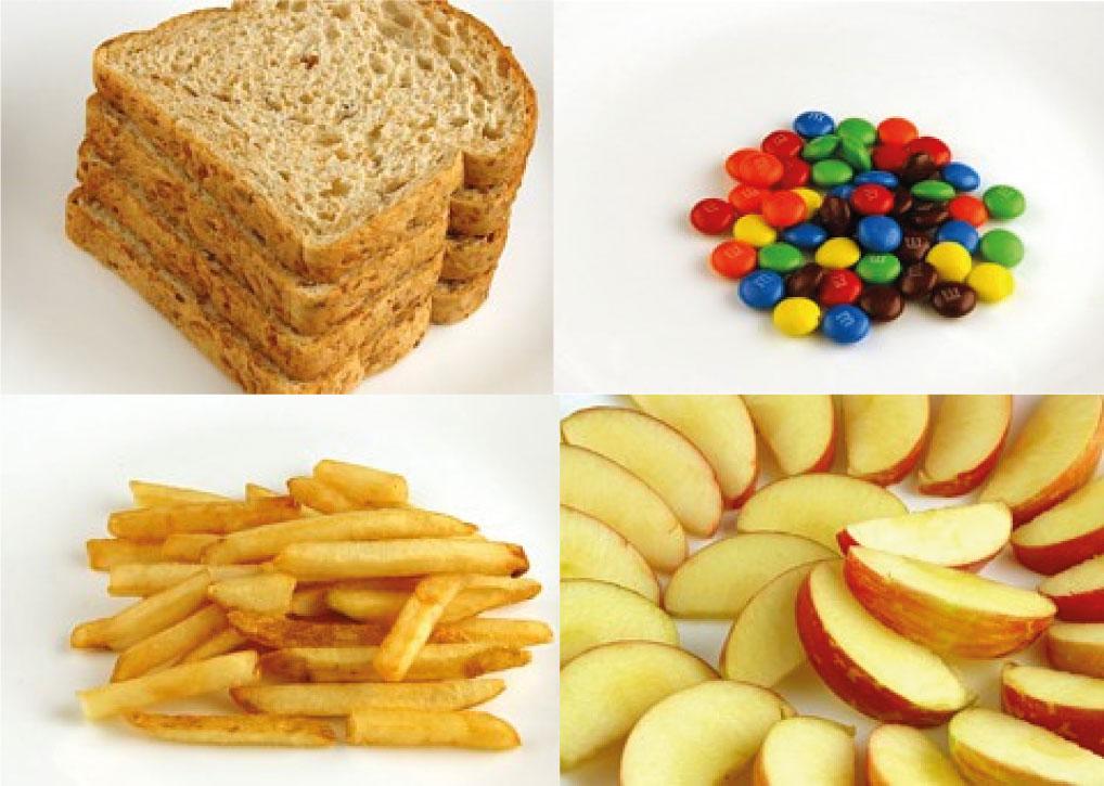 As calorias e os alimentos