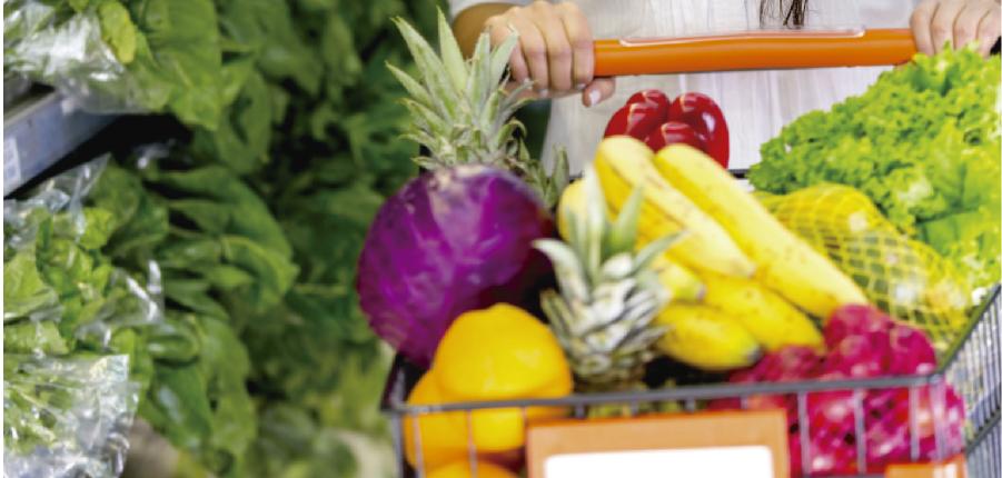 Equilíbrio na hora das compras do supermercado