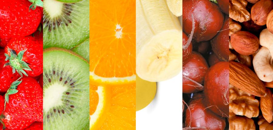 As cores dos alimentos