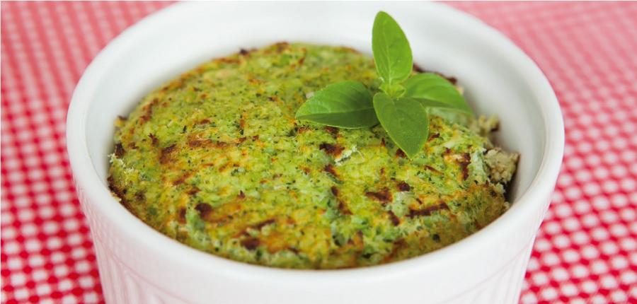 Tortinha de brócolis low carb