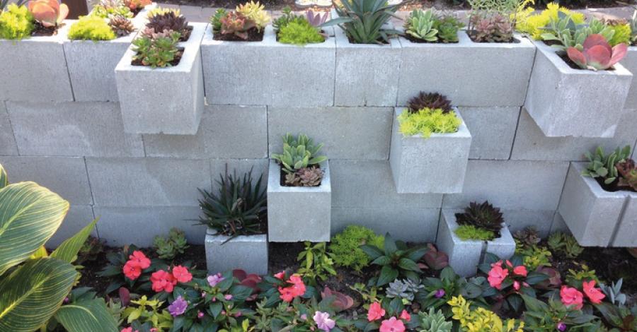 Blocos de concreto: criatividade e economia na decoração