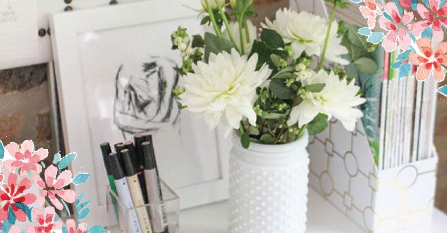 20 ideias criativas para decorar com flores