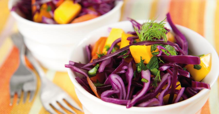 Salada Roxa refrescante