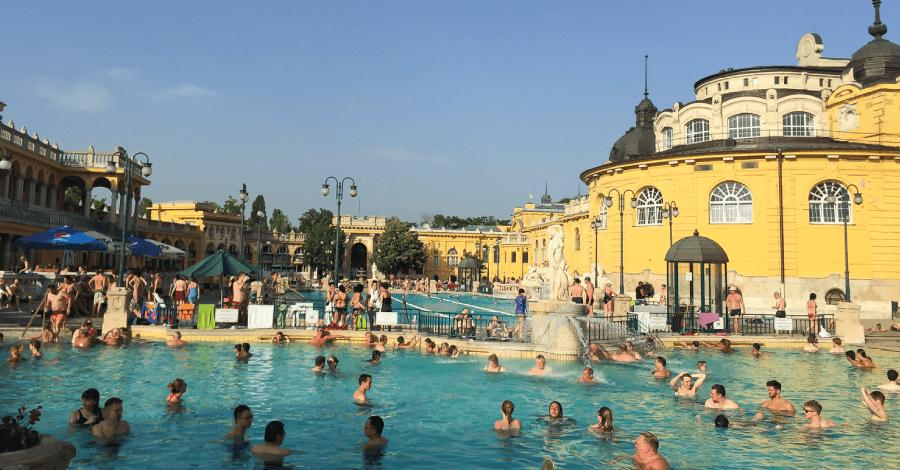 Os banhos termais de Budapeste