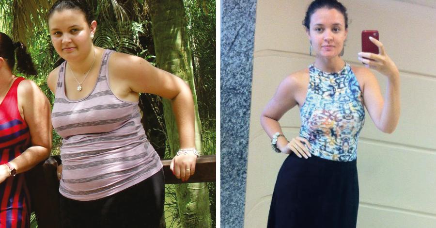 Superação Amanda Braz: ela planejou a dieta e eliminou 33Kg