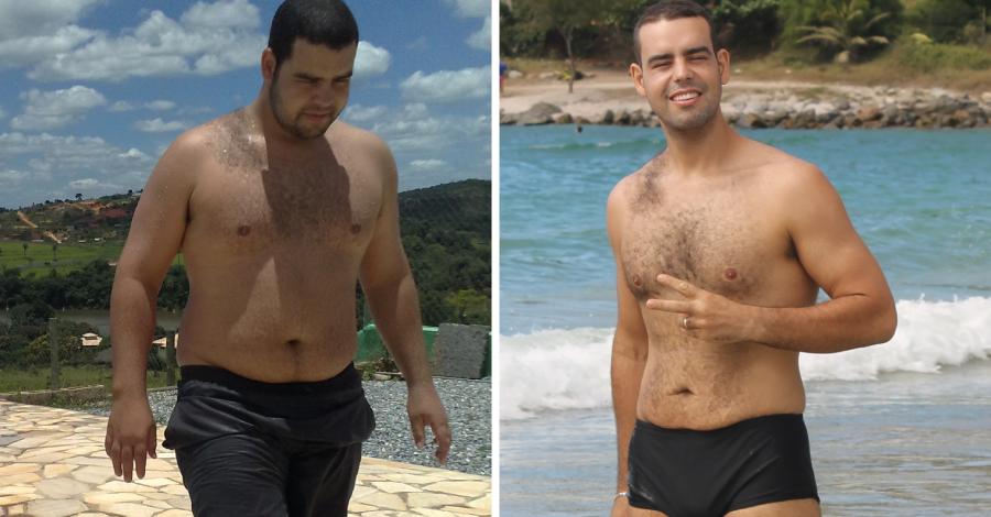 Superação Caio: vida nova ao perder 48kg em apenas 8 meses