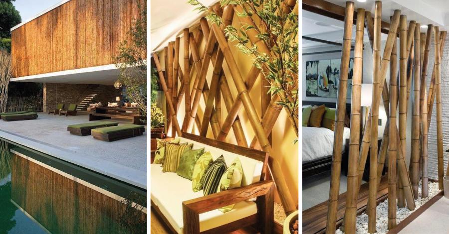Bambu na decoração: dicas para apostar nessa tendência