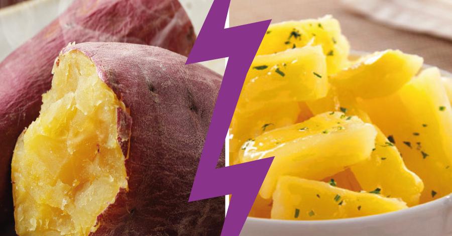Batalha dos alimentos: as diferenças entre a batata doce e o aipim
