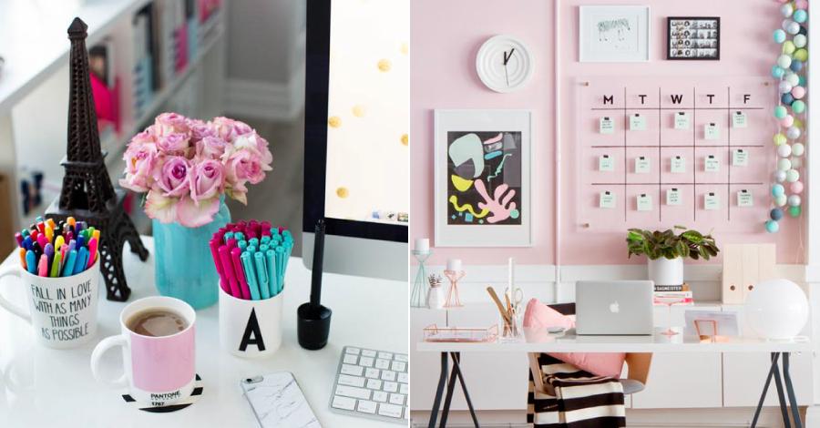 Inspirações para organizar e decorar a mesa de trabalho