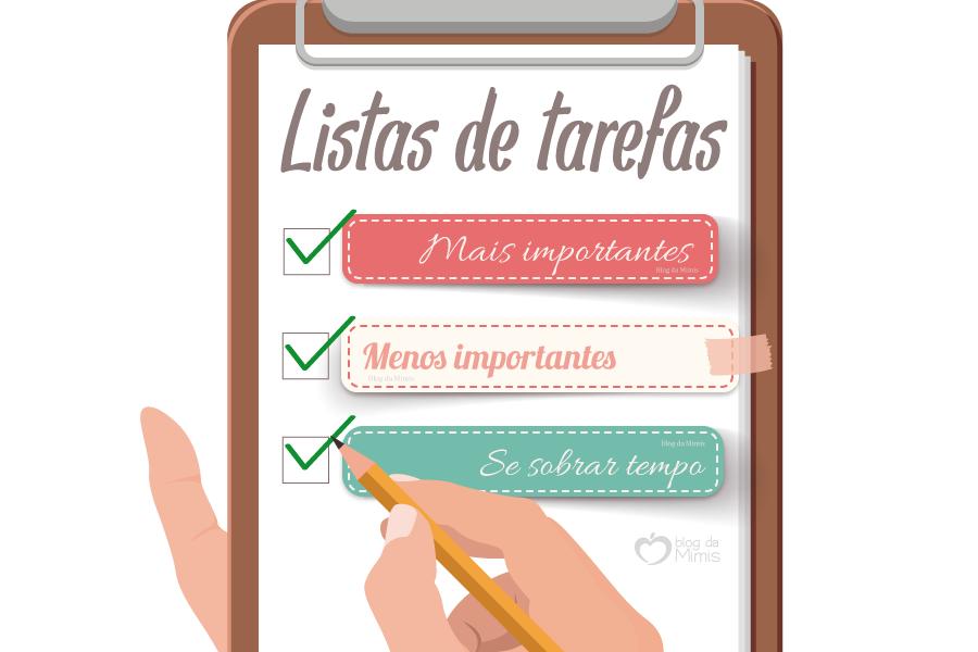 Para imprimir: lista de tarefas para manter a organização