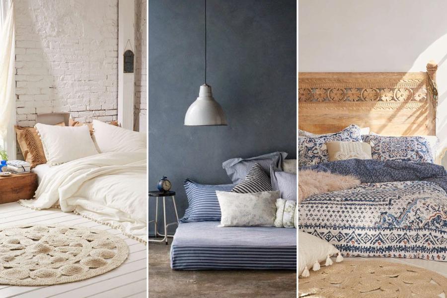 Ideias de camas feitas no chão