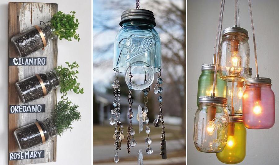 Ideias para usar potes de conserva na decoração