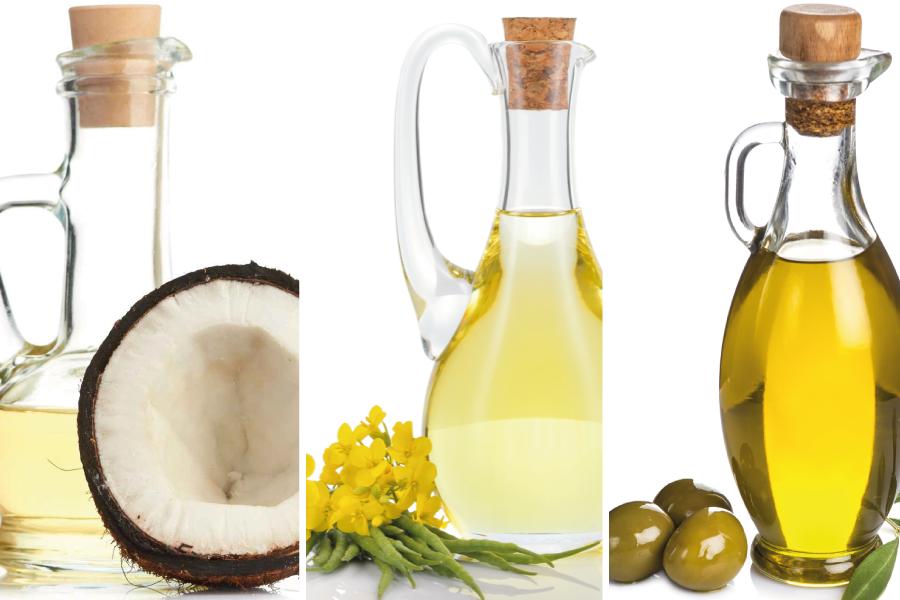 Óleo de canola, óleo de coco, azeite extravirgem, qual a melhor escolha?