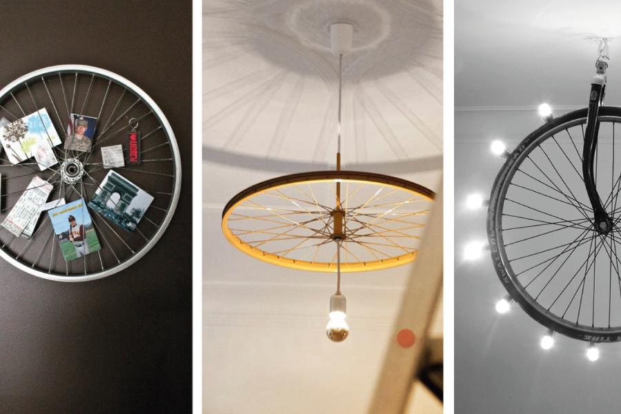 Bike decor: como usar rodas de bicicleta na decoração