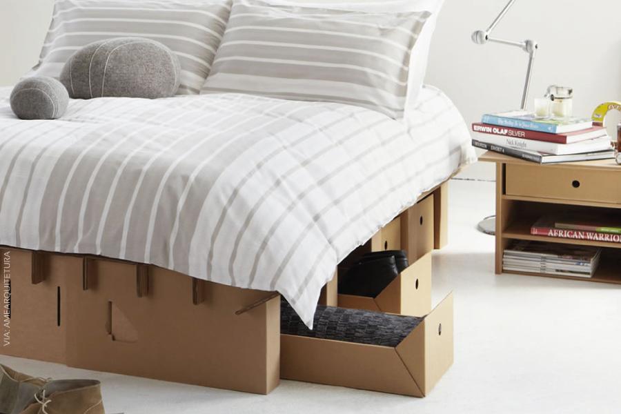 Papelão na decoração: móveis baratos, sustentáveis e resistentes