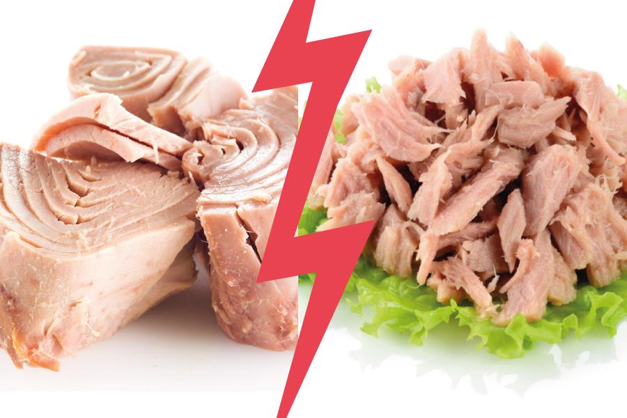 Batalha dos alimentos: atum solido x atum ralado
