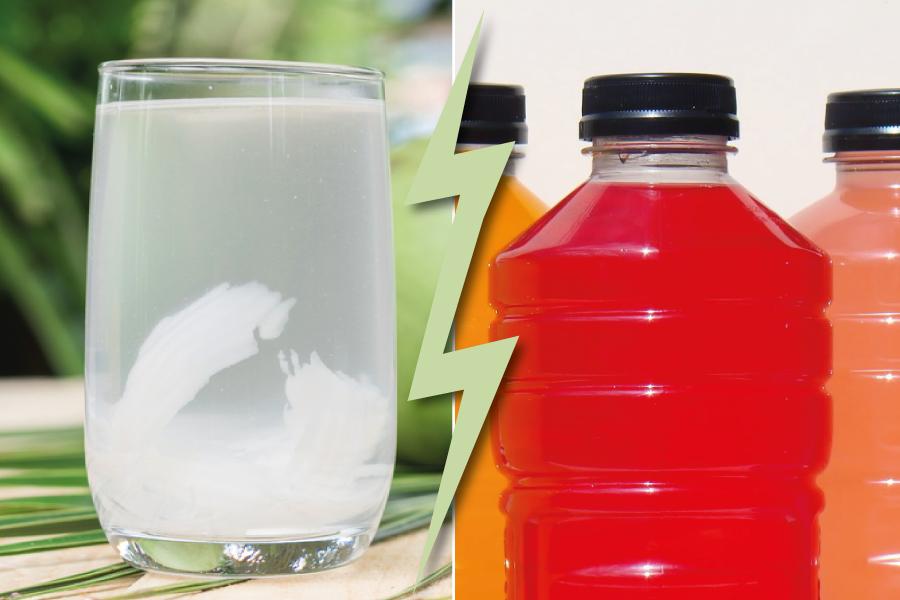 Batalha dos alimentos: água de coco ou isotônico?