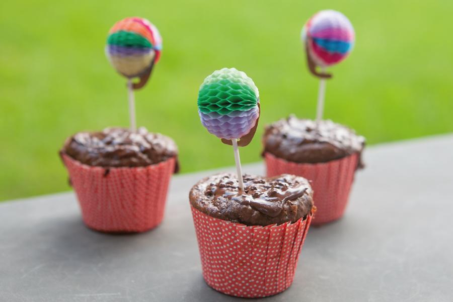 Cupcake de chocolate sem glúten