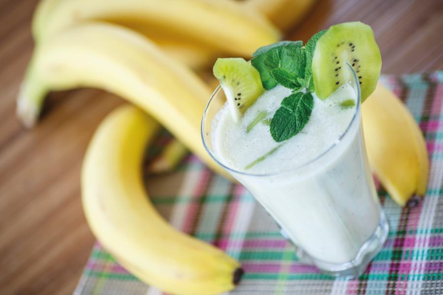 Shake de Banana e kiwi