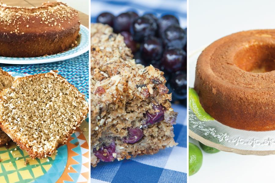 12 receitas de bolos para dieta