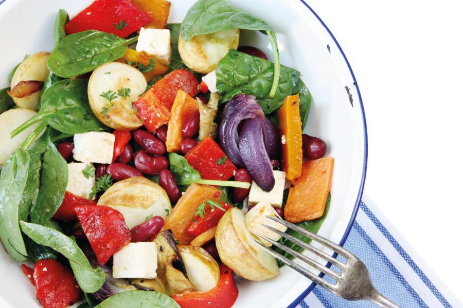 Salada de feijão vermelho