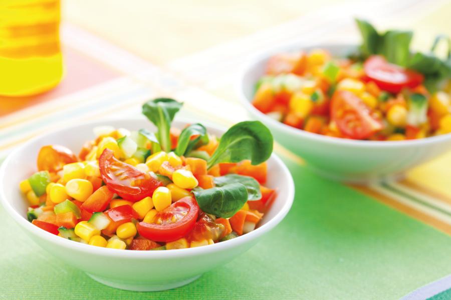 Saladinha de milho e tomate